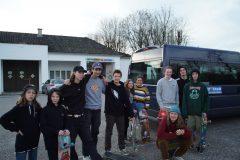 Skatetrip nach OÖ - Wels Halle Gruppenfoto